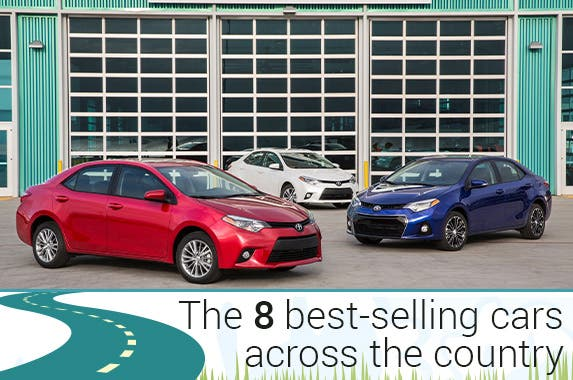 8 best-selling cars across the country