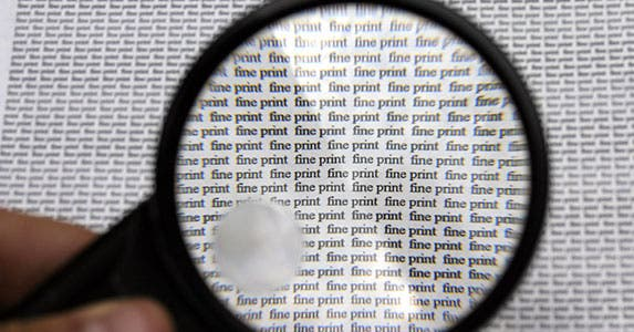 What's in the fine print? © iStock