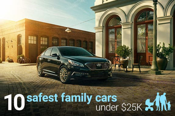 10 safest family cars under $25,000 © Hyundai