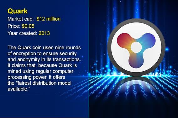 12 cryptocurrency alternatives to Bitcoin: Quark