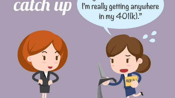 Cant catch up | Illustrated women © Sungchul77/Shutterstock.com