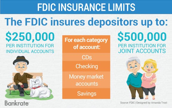 FDIC insurance limits | Senior man and dog illustration: © Lorelyn Medina/Shutterstock.com; Happy Senior Couple © Lorelyn Medina/Shutterstock.com