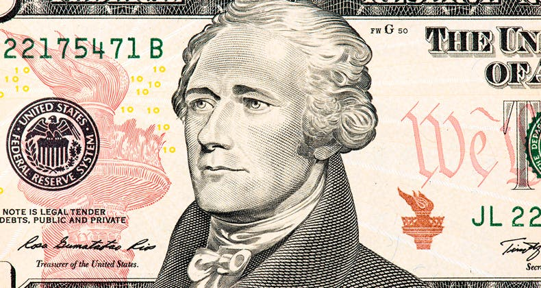 the history of the  10 bill