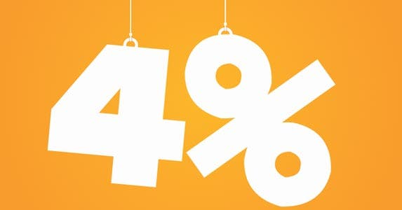 Why you can't count on the 4% rule © iStock