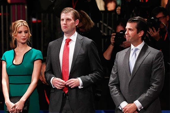 Rich kids of the candidates | Pool/Getty Images