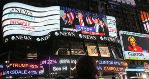 Times Square after Donald Trump win   Michael Reaves/Getty Images