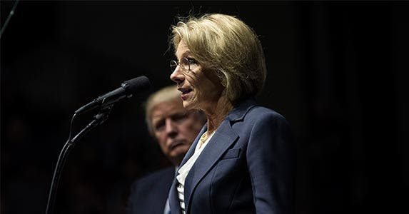 Secretary of Education | Drew Angerer/Getty Images