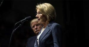 Donald Trump and Secretery of Education appointee, Betsy Davos |  Drew Angerer/Getty Images