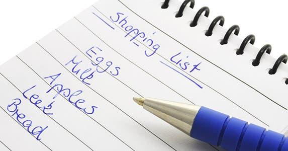 Create a grocery store spending chart © viviamo/Shutterstock.com
