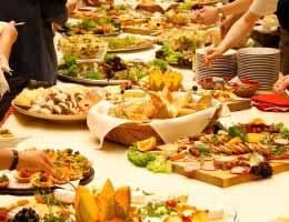 Serve a buffet