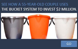 See how a 55-year-old couple uses the bucket system to invest $2 million