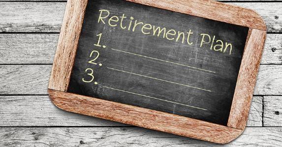 Blank retirement plan list on blackboard © somchai rakin/Shutterstock.com