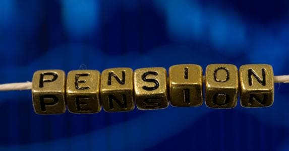 Beads on string spelled out the word 'pension' © iStock