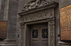 Front door of National Valley Bank | Theodore Van Pelt/EyeEm/Getty Images