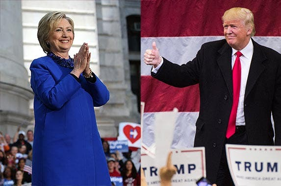 Hilary Clinton and Donald Trump | Justin Sullivan/Getty Images, The Washington Post/Getty Images