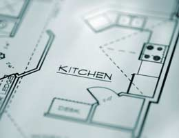 Blueprint of a kitchen