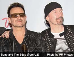 Bono and The Edge (from U2)
