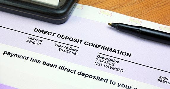 Find auto-deposit at your job | iStock.com/GaryPhoto