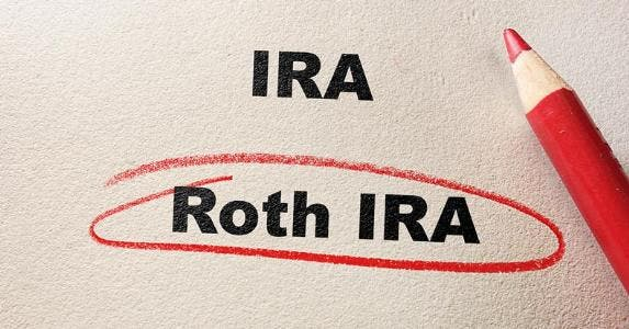 'Roth IRA' circled with red colored pencil © iStock