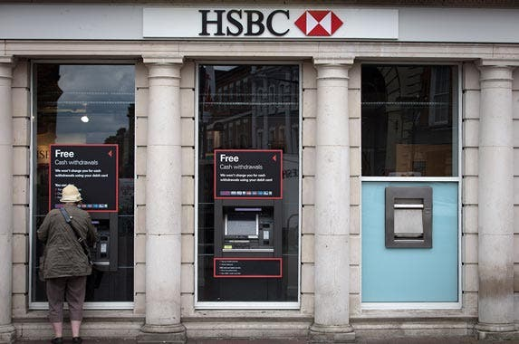 HSBC Bank | Matt Cardy/Getty Images