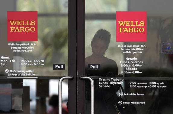 Wells Fargo Bank | Justin Sullivan/Getty Images