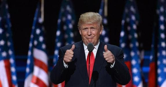 Donald Trump two thumbs up | Xinhua News Agency/Getty Images