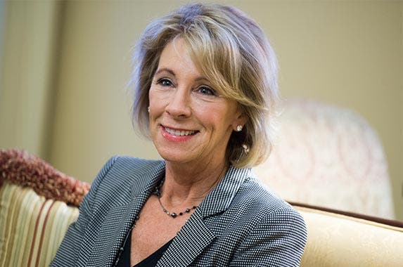 Betsy DeVos | Tom Williams/Getty Images