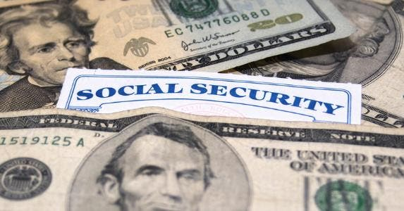 Social security card and money © iStock