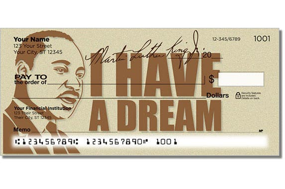 Martin Luther King Jr. checks