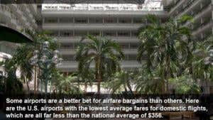 Top 5 cities with the lowest airfares