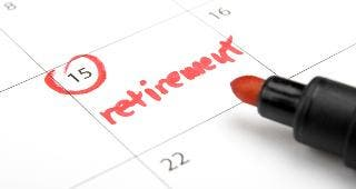 Retirement written on calendar © Jirsak/Shutterstock.com