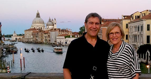 The Martins in Venice, Italy | Photo courtesy of Tim and Lynne Martin