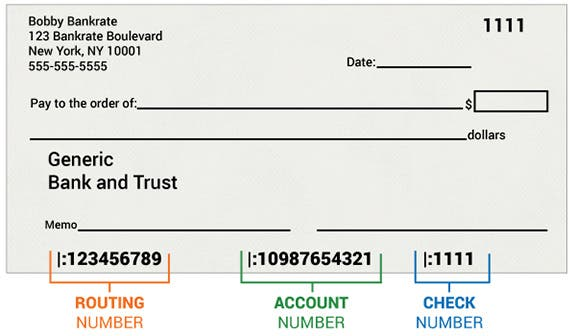 Sample of a personal check