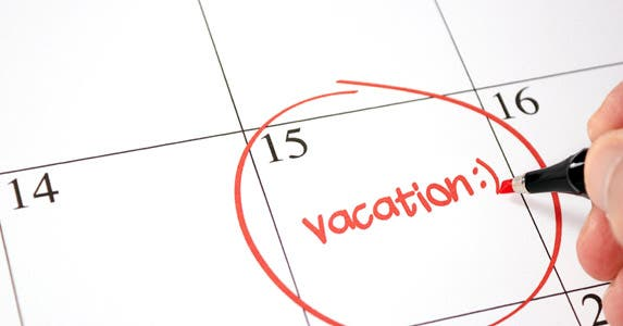 Time the vacations © iStock