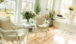 Living room furniture, big windows