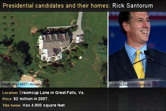 Rick Santorum Home Bankrate Com