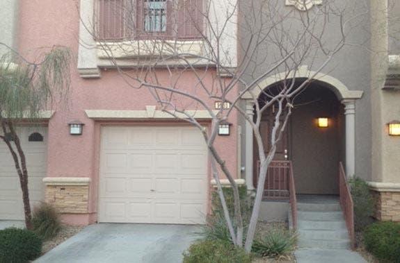 A 5-year-old Mediterranean town house in Las Vegas.