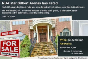 Celebrity house for sale: Gilbert Arenas