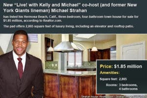 Celebrity house for sale: Michael Strahan