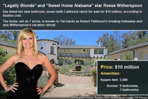 Celebrity house for sale: Reese Witherspoon