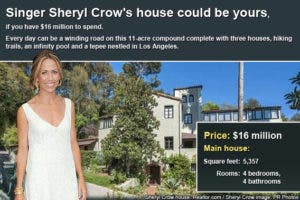 Celebrity house for sale: Sheryl Crow