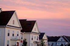 Neighborhood in sunset