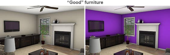 'Good' furniture staged rooms © Photo courtesy of Michael Seiler, College of William & Mary
