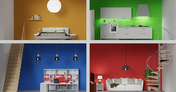 Does your room color reflect your persona? | Robert Kneschke/Shutterstock.com
