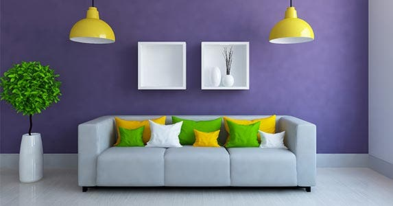 elements of purple living interior design | What Your Room Color Says About You | Bankrate.com