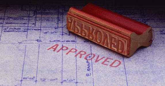 Approved blueprints © iStock