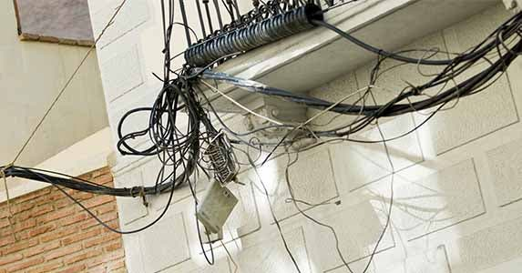 Shocking electrical work | Piotr Sikora/Shutterstock
