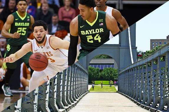 Baylor University Bears © suhendri/Shutterstock.com, Ed Zurga/Getty Images