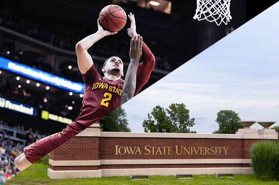 Iowa State University Cyclones © Ken Wolter/Shutterstock.com, Ed Zurga/Getty Images