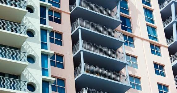 Exterior shot of condominium's balcony | Tim Graham/Getty Images